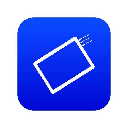 One phone icon digital blue