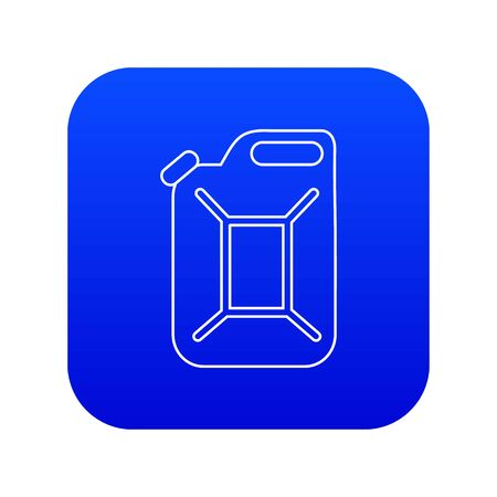 Canister icon blue vector Illustration