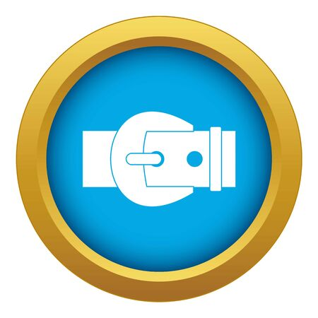 Buckle icon blue vector isolated on white background for any design Illustration