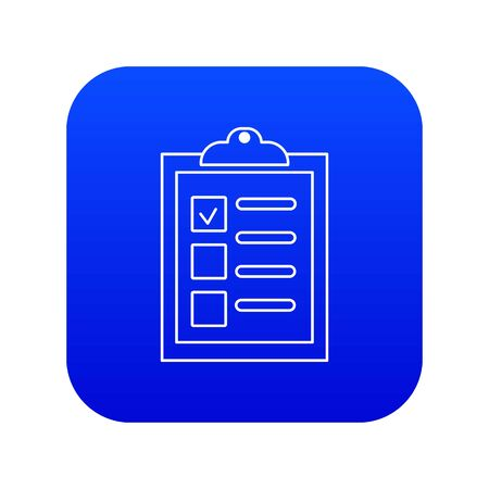 Checklist icon blue vector isolated on white background 向量圖像