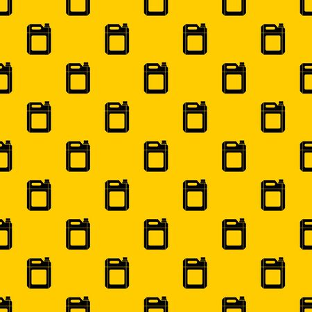 Plastic jerry can pattern seamless vector repeat geometric yellow for any design Illustration