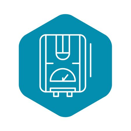 Water boiler icon, outline style