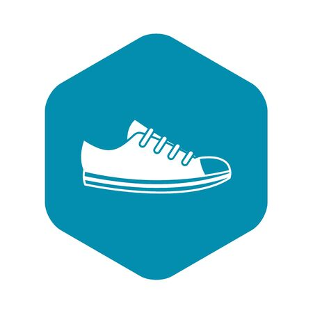 Canvas sneaker icon in simple style on a white background vector illustration