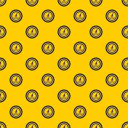 Speedometer pattern seamless vector repeat geometric yellow for any design Stock Illustratie