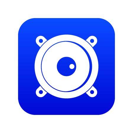 Audio speaker icon digital blue