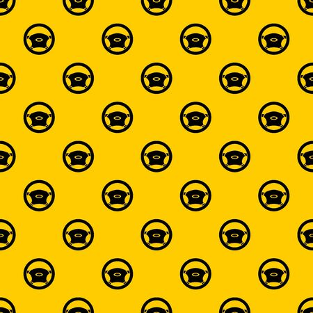 Steering, wheel pattern seamless vector repeat geometric yellow for any design Illustration