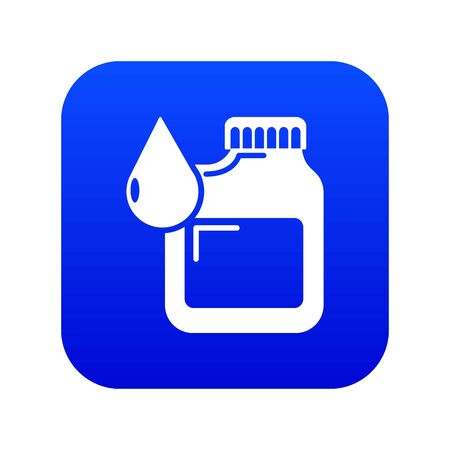 Canister engine oil icon blue vector