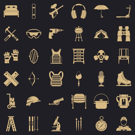 Outfit icons set. Simple set of 36 outfit vector icons for web for any design