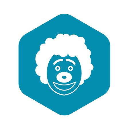 Clown head icon in simple style on a white background vector illustration