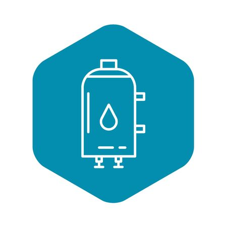 Water boiler icon. Outline water boiler vector icon for web design isolated on white background Иллюстрация