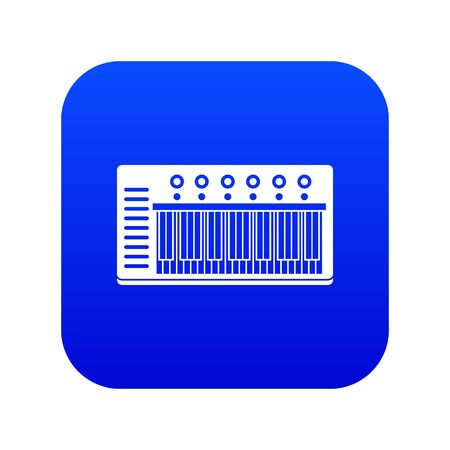 Electronic synth icon digital blue for any design isolated on white vector illustration Stock Illustratie