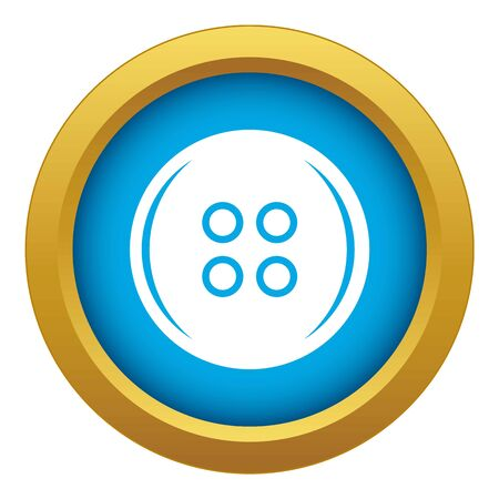 Plastic button icon blue vector isolated on white background for any design
