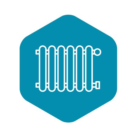 Modern radiator icon, outline style