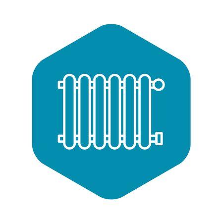 Modern radiator icon, outline style Stockfoto - 124536940