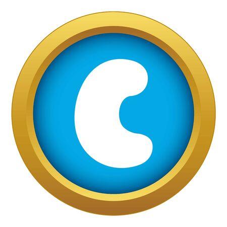 Cashew icon blue vector isolated Illustration