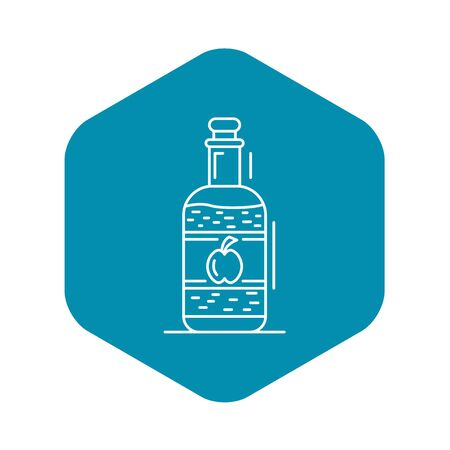 Apple vinegar icon, outline style Imagens - 124536987