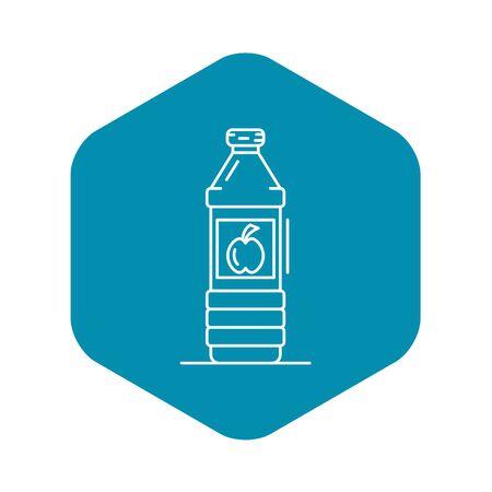 Apple vinegar bottle icon, outline style Imagens - 124536998