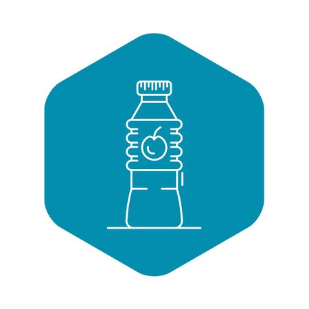 Plastic bottle apple vinegar icon, outline style Imagens - 124537067