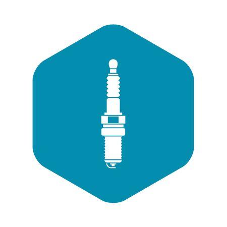 Icône de bougie de voiture dans un style simple sur une illustration vectorielle de fond blanc