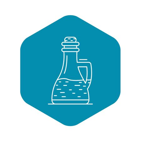 Glass bottle vinegar icon, outline style