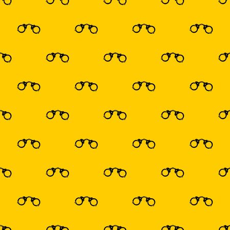 Handcuffs pattern seamless vector repeat geometric yellow for any design