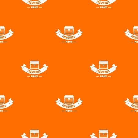 Treasure pattern vector orange Vektoros illusztráció
