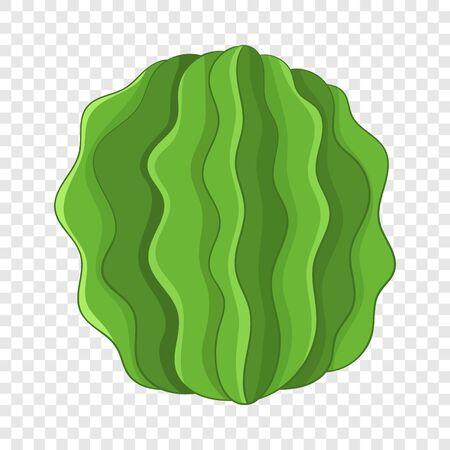 Round actus icon, cartoon style