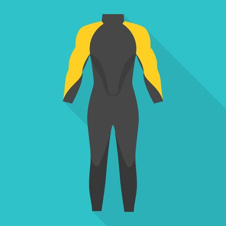Thermo clothes icon, flat style