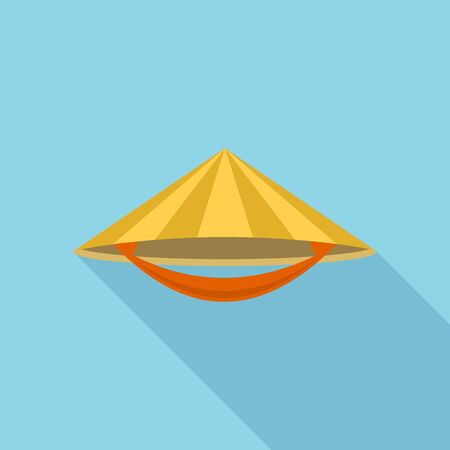 Asian conical hat icon. Flat illustration of asian conical hat vector icon for web design 일러스트