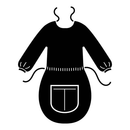 Woman apron icon. Simple illustration of woman apron vector icon for web design isolated on white background