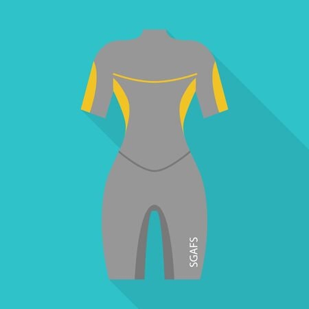 Rafting clothes icon. Flat illustration of rafting clothes vector icon for web design