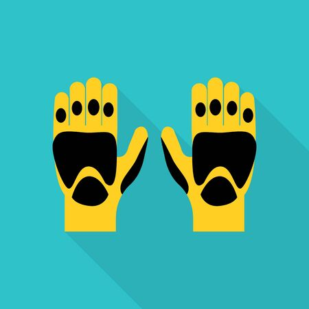 Kayak gloves icon. Flat illustration of kayak gloves vector icon for web design