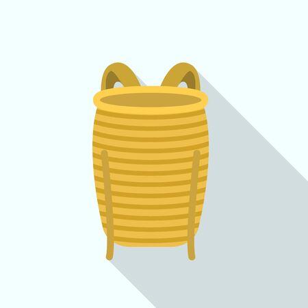Vietnam back basket icon. Flat illustration of vietnam back basket vector icon for web design