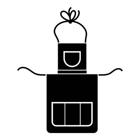 Housewife apron icon. Simple illustration of housewife apron vector icon for web design isolated on white background 일러스트