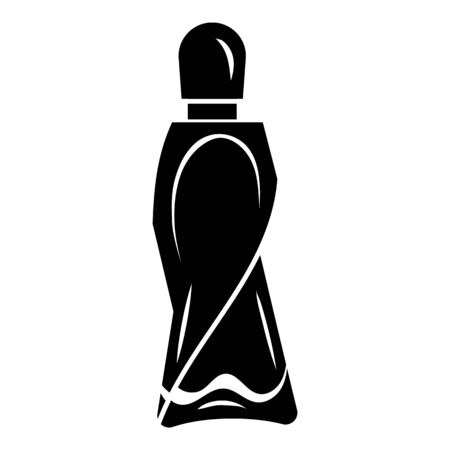 Fashion bottle perfume icon. Simple illustration of fashion bottle perfume vector icon for web design isolated on white background Illustration