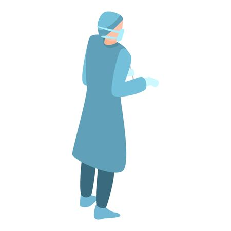 Woman surgical icon, isometric style Illustration