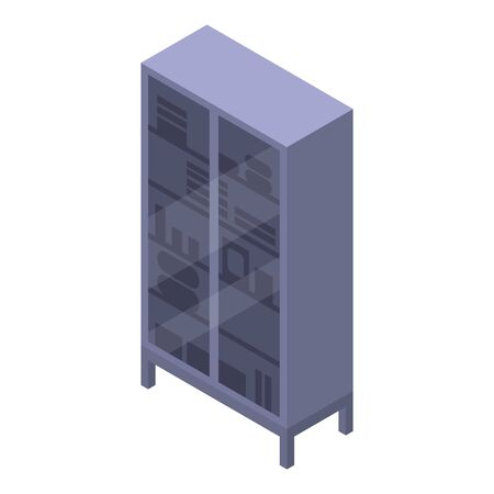 Surgical glass wardrobe icon, isometric style Banque d'images - 124537526