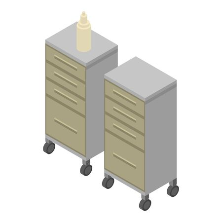 Surgery furniture icon. Isometric of surgery furniture vector icon for web design isolated on white background Vector Illustration