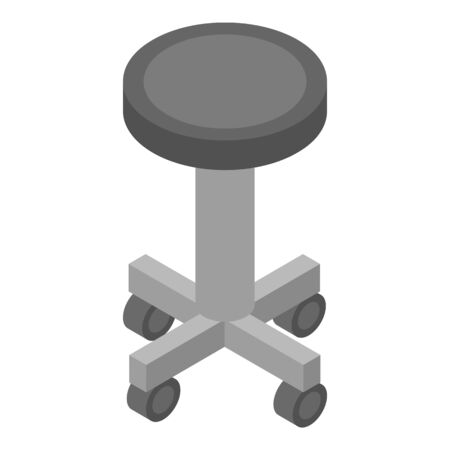 Surgery wheels chair icon. Isometric of surgery wheels chair vector icon for web design isolated on white background