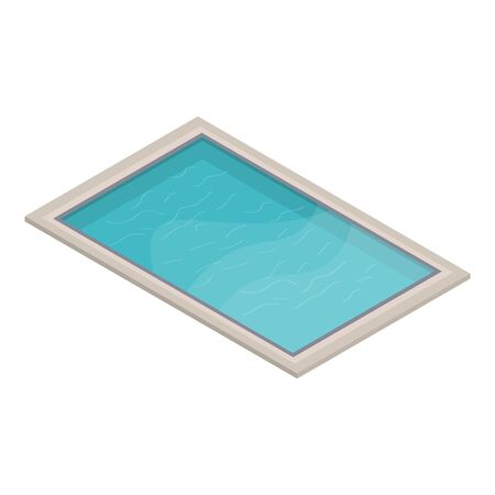 Home pool icon. Isometric of home pool vector icon for web design isolated on white background Stock Illustratie