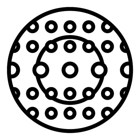 Rubber zorb icon, outline style