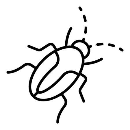 Insect cockroach icon, outline style