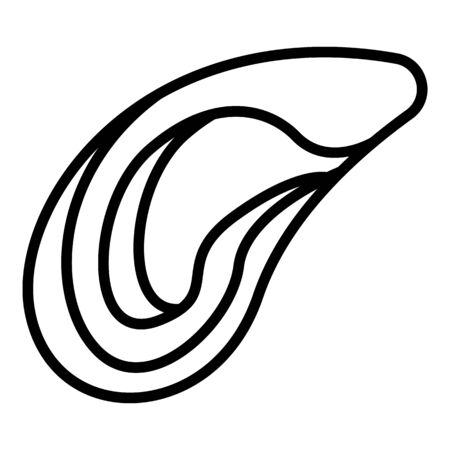 Mussels icon, outline style
