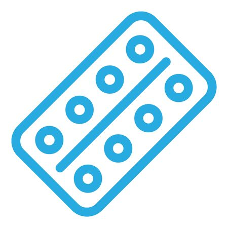 Pills package icon, outline style