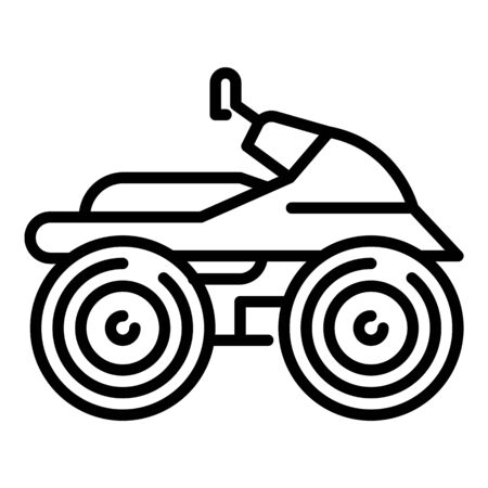 Quad bike icon. Outline quad bike vector icon for web design isolated on white background