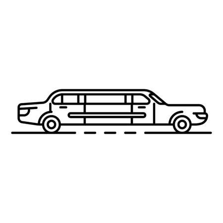 Limousine icon. Outline limousine vector icon for web design isolated on white background Ilustrace