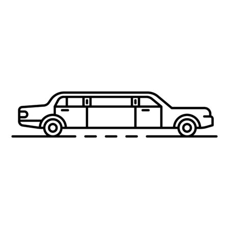 Luxury limousine icon. Outline luxury limousine vector icon for web design isolated on white background Ilustrace