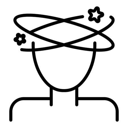Dizzy icon, outline style