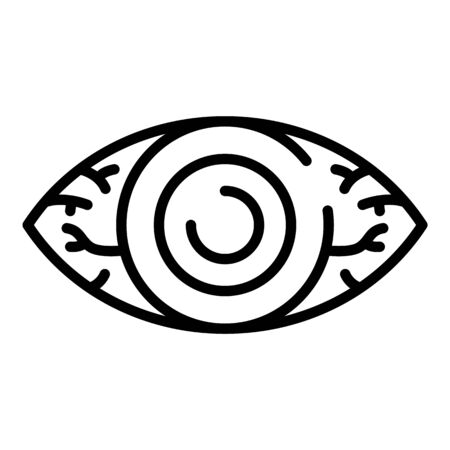 Tired eye icon, outline style