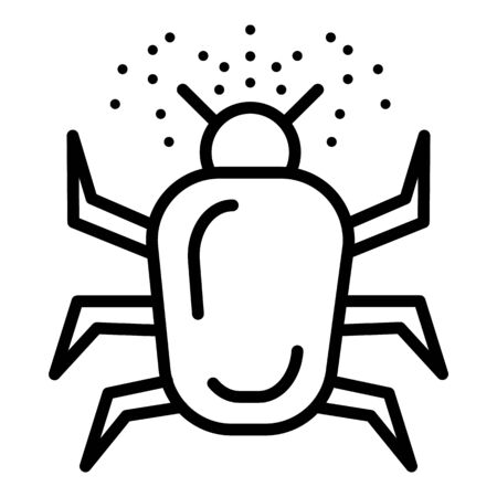Allergy bug icon. Outline allergy bug vector icon for web design isolated on white background